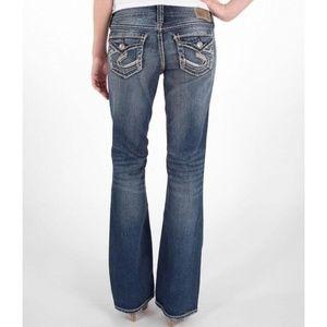Silver SUKI Surplus Jeans Bootcut Whiskering